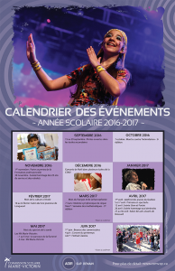 Calendrier - événements 2016-2017