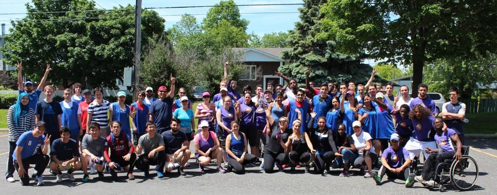 Les coureurs et les marcheurs des trois centres qui ont relevé le défi le 4 juin dernier.